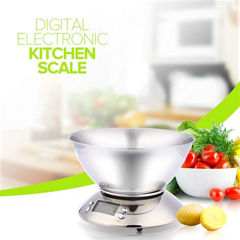 balance cuisine stainless steel kitchen scale 5kg 1g electronic scale kitchen food balance cuisine precision