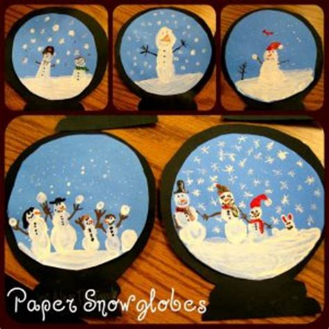 snow globe craft idea  kids crafts  worksheets