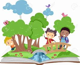 Image result for children playing in the forest clipart