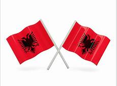 Two wavy flags Illustration of flag of Albania