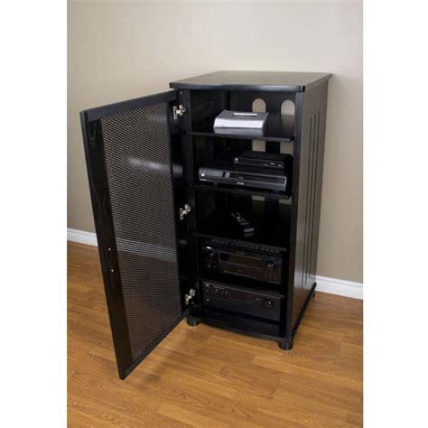 audio component cabinet plateau lsx series 5 shelf audio component stand black oak