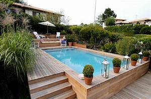 le tas d39idee de piscine semi enterree With ordinary idee amenagement jardin avec piscine 2 amenagement exterieur avec piscine hors terre