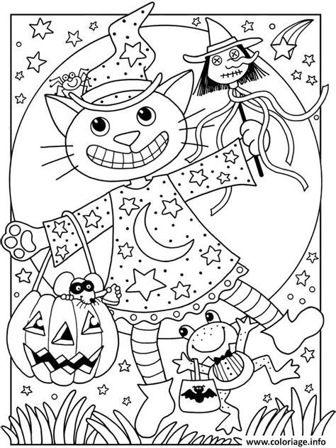 coloriage halloween facile chat citrouille dessin halloween  imprimer