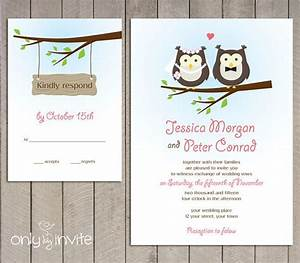 owl bride and groom wedding invitation rsvp printable With diy owl wedding invitations