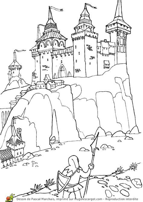 cour de cuisine en ligne coloriage moyen age chateau fort sur hugolescargot com