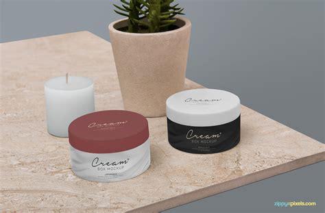 Unique and polished packaging mockups. Free Amazing Cosmetic Jar Mockup | ZippyPixels