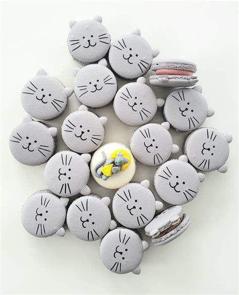 cat macarons macarons macaron template cute desserts
