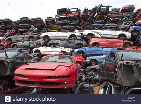 Car Dump Yard Near Me by Ruhr Germany Stacked Cars In A Junkyard Stock Photo