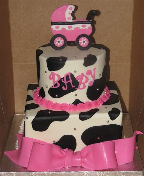 Cow Print Baby Shower Cakecentralcom