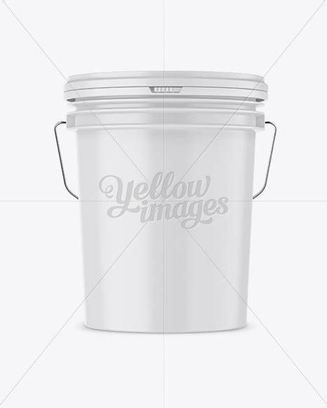 Vhite vector paint bucket mockup. Matte Plastic Paint Bucket Mockup - Front View in Bucket ...