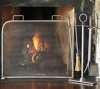 modern fireplace screens Vintage Pewter Single Screen Fireplace Screen ...