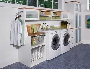 Regal Waschmaschine Trockner : waschk che einrichten 33 ideen f r einen modernen w scheraum ~ Michelbontemps.com Haus und Dekorationen