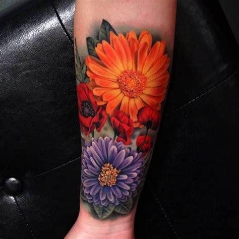 realistic flower tattoo ideas  pinterest