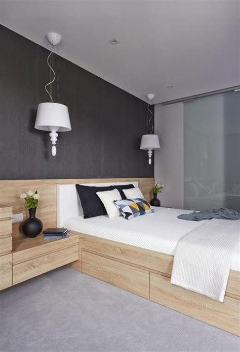 Welche Wandfarbe Schlafzimmer by Wandfarbe Schlafzimmer Dunkelgrau Holzbett Bettkasten