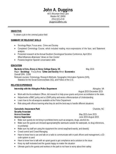 Writing a professional resume is a very important step in your job hunt. resume | Criminology | Sociology