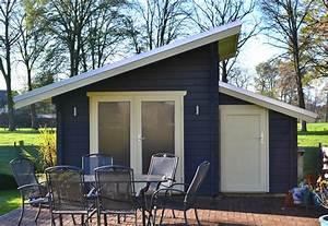 Gerätehaus Mit Pultdach : gartenhaus mit versetzten pultdach 45mm bb pollmeier ~ Michelbontemps.com Haus und Dekorationen