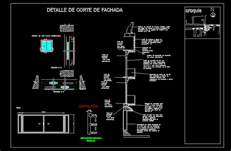 detail section facade dwg section  autocad designs cad