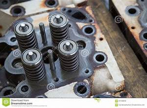Model Of A Vehicle Engine  Engine Exhaust Valve And Intake