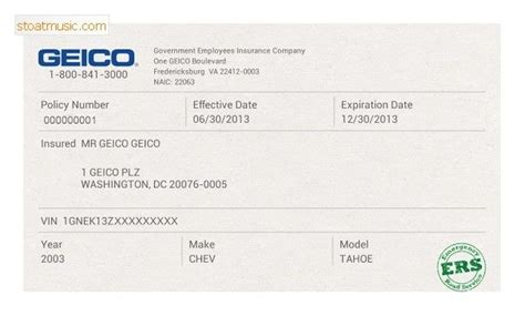 Related posts for √ 20 fake car insurance card ™. Fake Geico Insurance Card Template Stoatmusic In Insurance Card Template For Geico Insurance ...