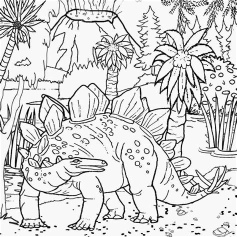 printable dinosaur habitat coloring pages  kids