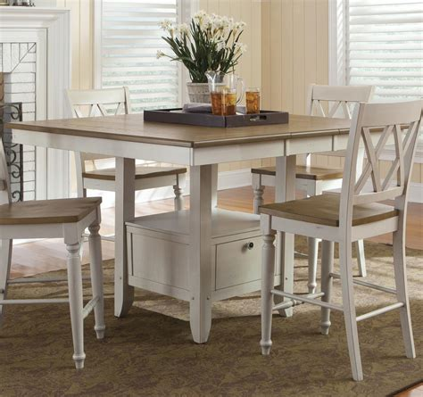 dining tables gathering table with storage by liberty furniture wolf 2090