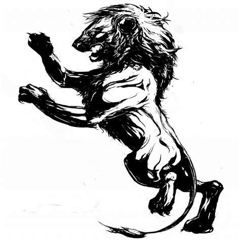 lion claw tattoo clipart