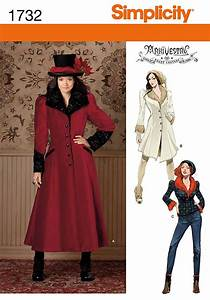 Simplicity Sewing Pattern 1732 Womens Steampunk Victorian ...