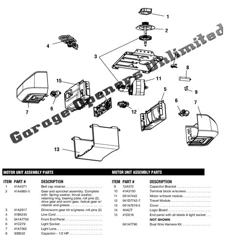 garage doors parts liftmaster garage door opener wiring diagram 44 wiring