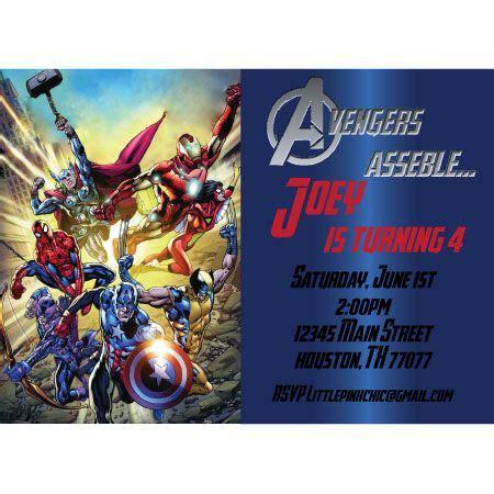 avengers birthday invitation hulk ironman spiderman