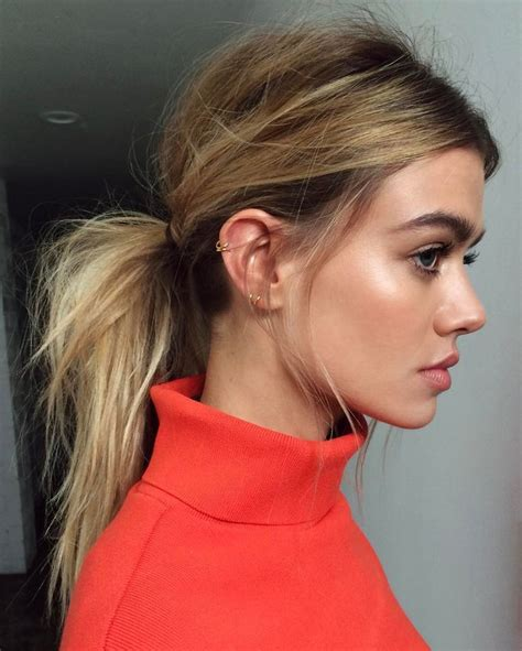 25 best ideas about low ponytails on