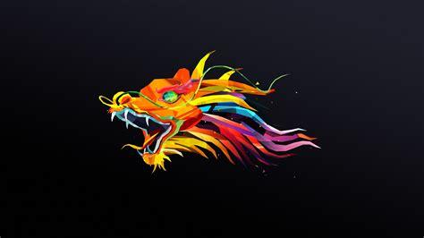 animals dragon justin maller simple background digital