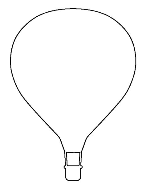 Air Balloon Template Balloon Outline Images Search