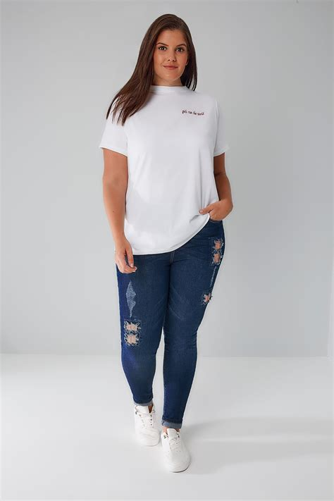 Limited Collection Khaki Distressed Skinny Jeans Plus Size 16 To 36 - limited collection blue denim skinny jeans with sequin detail plus size 16 to 32