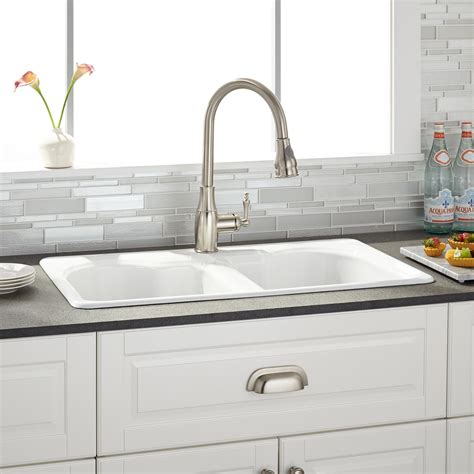drop in kitchen sink single bowl 32 quot berwick white bowl cast iron drop in kitchen