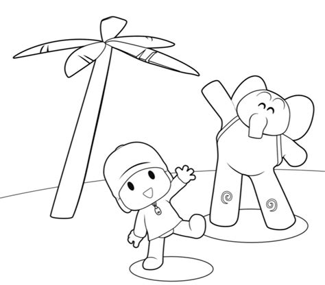 coloring pages  printable pocoyo coloring pages
