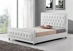 Lit Double Blanc : lit prestige blanc l 152 x h 111 x p 210 ~ Teatrodelosmanantiales.com Idées de Décoration