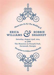 wedding invitations peach and navy watercolor at mintedcom With minted navy wedding invitations