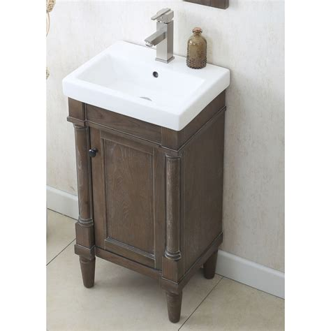 18 bathroom vanity with sink legion furniture wlf7021 18 18 sink vanity in weathered