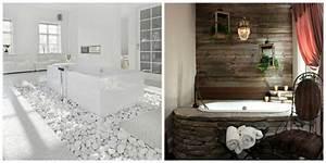 Salle De Bain Idée Déco : salle de bain pierre et bois une beaut naturelle ideeco ~ Dailycaller-alerts.com Idées de Décoration