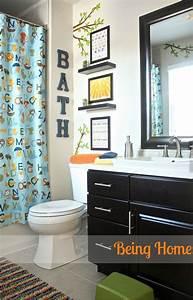 Hometalk kids bathroom makeover for Kids boys bathroom decor