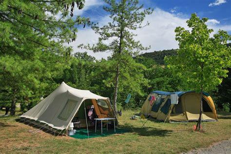 toile de tente 4 chambres ardèche cing mobil homes chalets emplacements