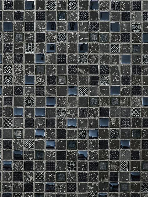 Gray Blue Travertine Glass Mosaic Tile   Backsplash.com