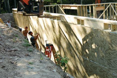permanent wood foundations jlc  basement foundation framing insulation lumber