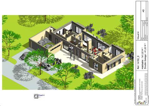 plan de maison plain pied moderne maison plain pied 4 chambres maison moderne