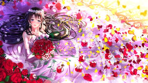 Anime Wedding Wallpaper - swordsouls anime anime artwork wedding dress