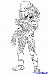 Predator Coloring Pages Draw Drawing Predators Easy Drawings Step Alien Superhero Spiderman Frozen Elsa sketch template