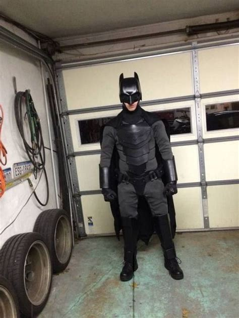 real life batman suit  stack   knives