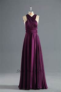 free shipping cheap purple bridesmaid dresses floor length With long purple dresses for weddings