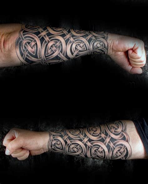 celtic knot tattoos  men interwoven design ideas