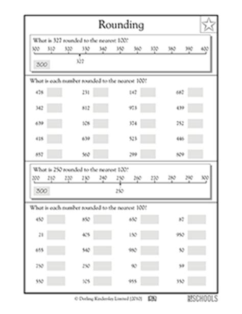 3rd grade math worksheets rounding to the nearest 100